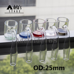 Color Bottom Quartz Banger Nail OD 25mm Flat Top XL Domeless Nails 10mm 14mm 18mm Male Female Dab Rigs Bong Water Pipe 671