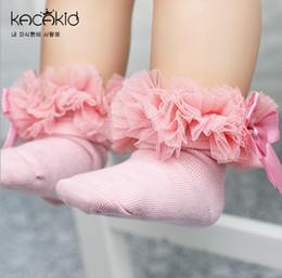 0-6T Kids Girls Socks Baby Tutu Yarn Lace Bow Socks Infants Children Sokken Princess Dancing Meias Kids Clothes Girls Accessory
