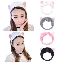Cat ear hair band women headband Hair accessory headbands girls Lady Makeup Tool Headband Simple Fashion Hairband Elastic headband