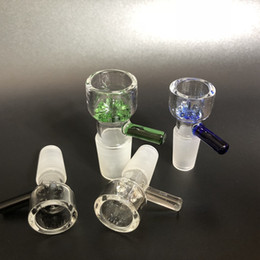 wholesale slide glass bowls 10mm 14mm 18mm with snowflake filter bowl for Glass Bongs and Ash Catcher Glass smoking Bowl