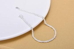 Korean fashion small hemp rope silver bracelet silver anklet
