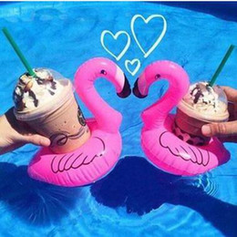 Flamingo Inflatable Floating Drink Bottle Holder pineapple Doughnut Floating Bath Kids Toys Christmas Gift Can Floats Cookie Watermelons