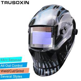 Out Adjust Big View Eara 4 Arc Sensor Grinding Cutting Solar Auto Darkening TIG MIG MMA Welding Mask Helmet Welder Cap Face Mask