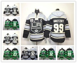 Factory Outlet, Cheap Los Angeles Kings Hockey Hoodie Jersey 11 Anze Kopitar 23 Dustin Brown 32 Jonathan Quick 99 Wayne Gretzky Hoody Sweats
