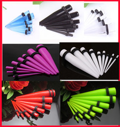 Ear tunnel P13 100pcs mix 8 size 6 color body piercing sprial ear taper ear expander