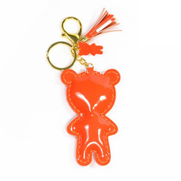 High quality new fashion PU leather tassel bag pendants cute bear keychains Small gift Spot wholesale