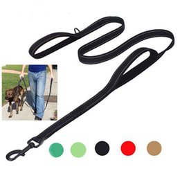 Pet Leash Pet Training Rope Lead Retractable Nylon Collar Walking Harness Puppy Explosion Double Pull Rope For Pets Double Thick