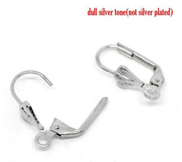 Free shipping copper plating white k 100 to French ear clasps 17 * 10 mm earrings jewelry products