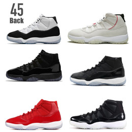 11 Concord 45 back 11s Platinum Tint 2018 new arrival basketball shoes sneakers Cap and gown win like 96 82 72 10