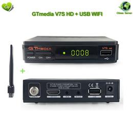 Satellite TV Receiver Gtmedia V7S HD Receptor with usb wifi for DVB-S2 Satellite Decoder update Freesat V7 HD Youtube power vu CCcam newcamd