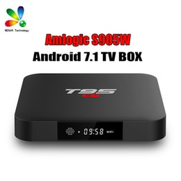 T95 S1 Android 7.1 TV BOX 2GB RAM 16GB ROM Amlogic S905W Quad Core 2.4GHz WiFi for Smart TV