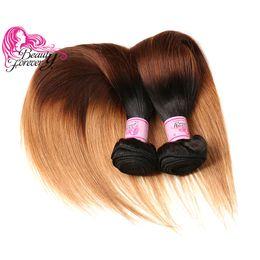 Beauty Forever T1B 4 27 Straight Malaysian Ombre Hair Extension 8A Virgin Hair Weave Unprocessed 3 Bundles Cheap Human Hair Wholesale Bulk