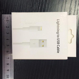 retail box wholesale!! package for iphone adapter usb data cable retail box for iphone 7 8 cable with factory price
