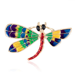Pin Crystal Jewelry Alloy Brooch Gold Brooch Retro Animal Bird Personality Dragonfly Brooch Drip Insects Corsage Fashion Women Temperament