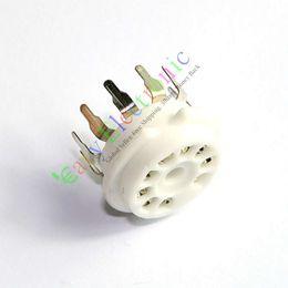9pin PCB Ceramic vacuum tube socket for 12AX7B 12AU7 ECC83 ECC82 Audio amplifiers radio parts DIY