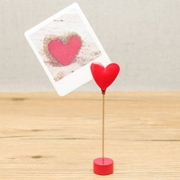 E39 LOVE HEART SINGLE STEM NOTE MEMO CLIP NOVELTY CUTE CREATIVE STAINLESS HAND-MADE ART CRAFTS WEDDING BIRTHDAY HOME OFFICE GIFT PRESENT