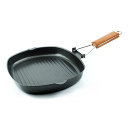 28x28cm steak pan thicken cast iron non stick fryping pan multi function rectangle pan detachable handle fried egg ham free shipping DHL
