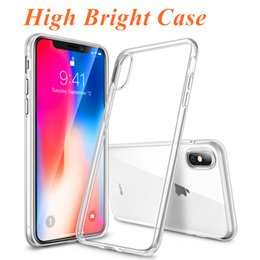 High Bright Case For iPhone XS XR X 8 7 6 Plus High Transparent Soft Gel Case For Samsung Galaxy S9 S8 S7