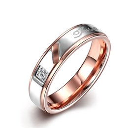 European and American fashion romantic letter titanium steel ring