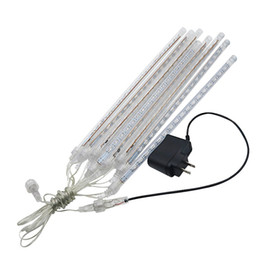 8pcs set LED Meteor Shower Rain Light Tubes 100-240V EU US Plug Christmas Outdoor Lights 30cm 50cm Waterproof Party Fairy Led Light