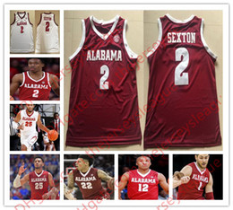 Alabama Crimson Tide Hot Sale #2 Collin Sexton Free Shopping Red White Stitched NCAA College Basketball Jerseys S-3XL