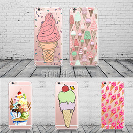 Sweet Ice Cream Pattern Phone Case For Iphone X 6 6s 7 8 Plus Transparent Silicone Cover Fundas Capinhas