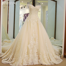 2018 Angel Tree A-line Luxury Full Pearls Appliques Celebrated Dress Crystal Lace Customized Party Dress Vestido De Noiva 100cm