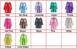 childrens boutique clothing single ruffle kids party dress short sleeve baby girl dresses