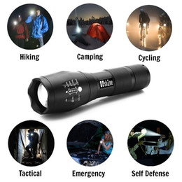 Super Bright 10000 Lumen LED Tactical Flashlight XML T6 LED Flashlights Portable Outdoor Water Resistant Torch Light Zoomable Flashlight wit