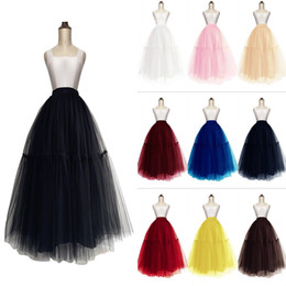 New 5 Layers Women Midi Tulle Tutu Skirt Petticoat Wedding Bridal Dress Prom Evening Ball Gown Under Skirts CPA1091