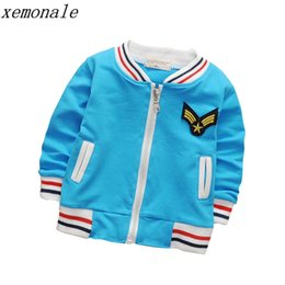 2018 Autumn Fashion Children Coat Letter Pattern Student Baseball Wear Boys Girl Sweatshirt Casual Kids Jacket Toddler Outerwear