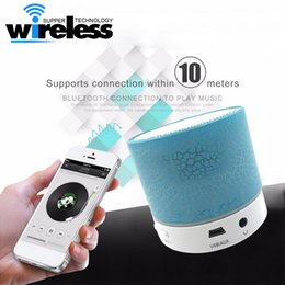 LED MINI Bluetooth Speaker A9 TF USB FM Wireless Portable Music Sound Box Subwoofer Loudspeakers For phone PC with Mic