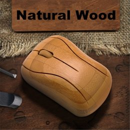 Bamboo Wireless Optical Mice Mouse Handcrafted Healthy Sweat-resistant Anti-radiation 2.4GHz Wireless Wooden gaming Mouse Handmade mice