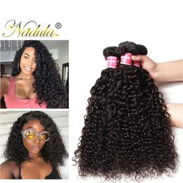 Nadula Malaysian Hair Bundles Curly Human 8A Virgin Hair Weave Bundles Remy Human Hair Extensions Wet and Wavy Weave Wholesale Wefts Cheap