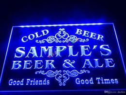 DZ049-b Name Personalized Custom Beer & Ale Vintage Bar Cold Beer Neon Light Sign.JPG