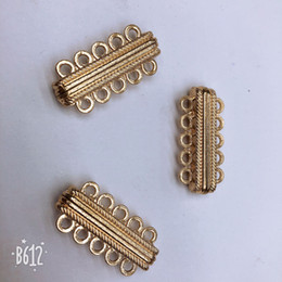 Free shipping new alloy plating gold 5 rows bracelet with big fashion jewelry clasp for 30 x15mm magnetic buckle