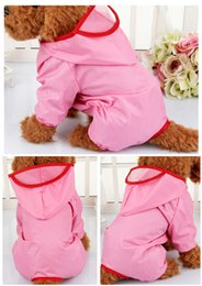 Sausage Weiner Chihuahua Teddy Dog Rain Jacket Outfits Coats Raincoat Puppy Xsmall Pink XL Xlarge Blue Yellow with Legs