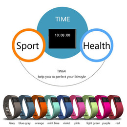 Newest TW64 Fitness Tracker Bluetooth Smartband Sport Bracelet Smart Band Wristband Pedometer For Apple IOS Android IPhone Bands PK Fitbit