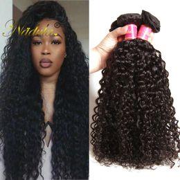 Nadula Brazilian Virgin Hair 3 Bundles Kinky Curly Hair Weave 100% Human Hair Extensions Remy Human Weave Bundles Wholesale Cheap Bulk Slik