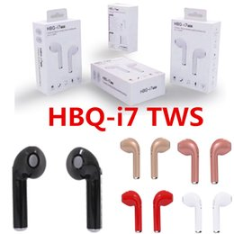 HBQ I7 I7S TWS Twins Wireless Bluetooth Headphones Earbuds Earphones Mini Bluetooth Earbud with Mic for iPhone X IOS Android with Retail