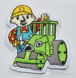 Free Shipping - bob the builder Embroidered IRON SEW ON PATCH BADGE APPLIQUE TRANSFER Wholesale garment embroide