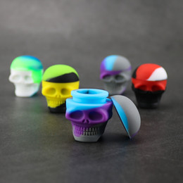Skull Shape 3ML Non-stick Silicone Container Food Grade Small Rubber Jars Dab Tool Storage Oil Holder Mini Wax Container for Vaporizer Vape