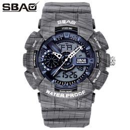 SBAO Cowboy Sport Watch Fashion Boy Student Military Watch Digital Writwatch LED Clock Men's Electronic Watches Relogio Feminino