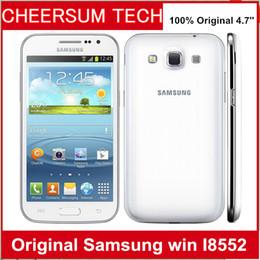 Unlocked Original Samsung galaxy win I8552 phone refurbished Android 4.1 Wifi GPS 3G 4.7'' Quad Core 1GB RAM One Year Warranty