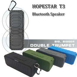 Brand Hopestar T3 bluetooth speaker hifi stereo wireless ip6x waterproof soundspeaker bass handfree outdoor subwoofer speakers DHL free