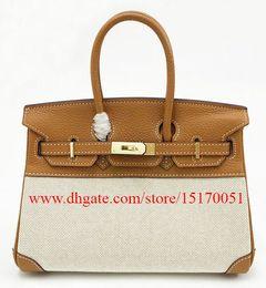 brand new famous designer genuine leather women handbag fashion canvas shoulder bag for lady 70