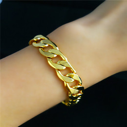 Wholesale - THICK HEAVY MENS CHAIN 14K YELLOW GOLD BRACELET