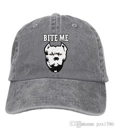 pzx@ Baseball Cap for Men and Women, Bite ME - Pitbull Mens Cotton Adjustable Jeans Cap Hat optional