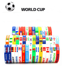 Silicone flags bracelet handring wrist strap Russia foodball world cup 2018 increase the atmosphere