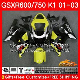 8GiftsBodyForSUZUKIGSXR600750GSXR6002001200220034HC.70GSXR750GSXR-600GSX-R750K1factory yellow GSXR750010203Fairingkit